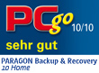 Paragon Backup & Recovery 10 Home erhält die Note: