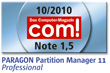 com! Einzeltest Paragon Partition Manager 11 Professional