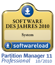 Paragon Partition Manager 11 Professional ist die Software des Jahres in der Kategorie: System!