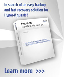 The most impressiv backup solution for MS Hyper-V guests! Hard Disk Manager Hyper-V