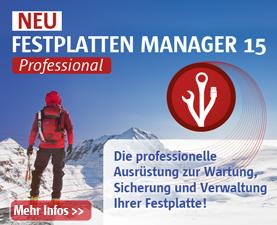 Paragon Festplatten Manager 15 Professional - Die profesionelle Lösung für den Anspruchsvollen PC-Anwender. Sichern, Virtualisieren, Migrieren, Wiederherstellen uvm.