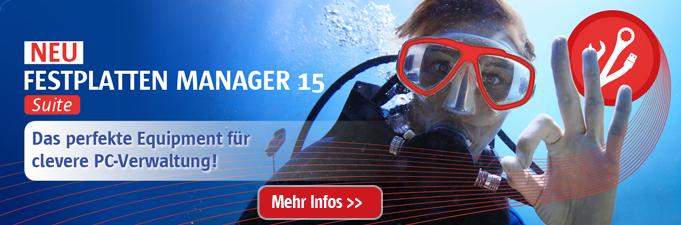 Brandneu: Sichern, Wiederherstellen, Partitionieren, Umziehen - Ein Tool alles drin! Festplatten Manager 14 Suite