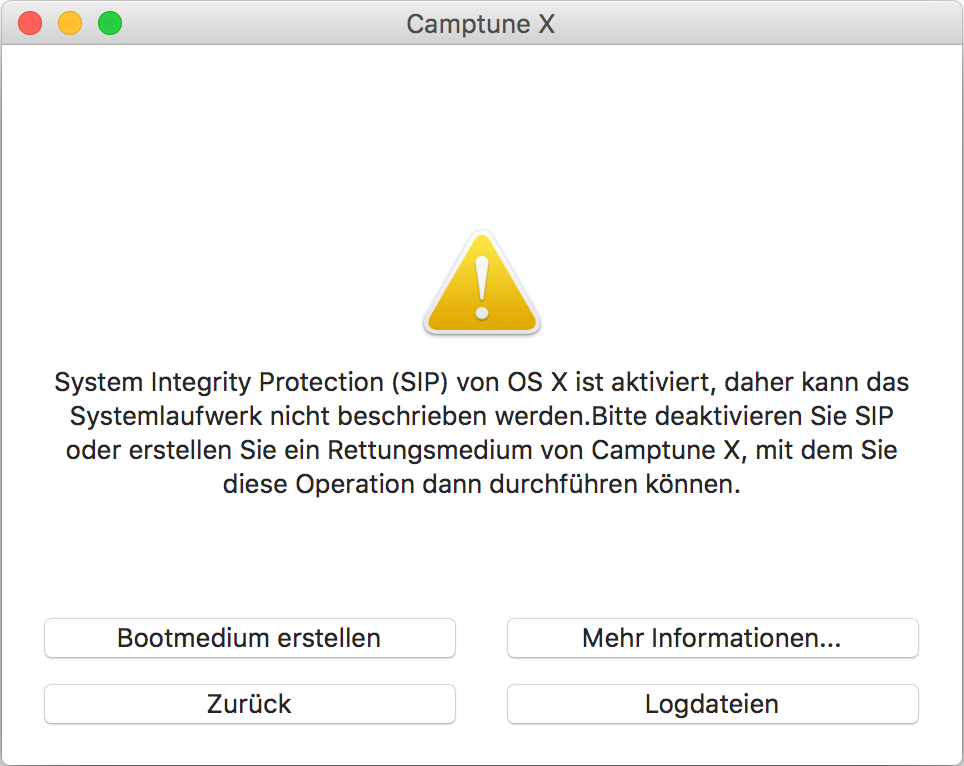 Camptune X und System Integrity Protection von OS X El Capitan