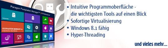 Festplatten Manager 14 - das Protool für Festplatten!
