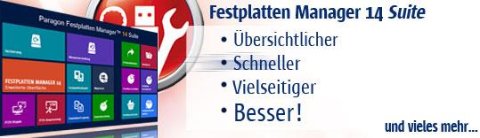 Festplatten Manager 14 Suite - Übersicht