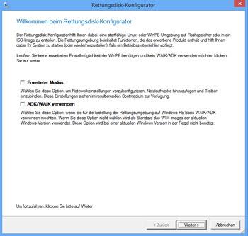 <b>Paragon Rettungsdisk-Konfigurator 3.0</b><br /> Mit dem neuen Recovery Media Builder 3.0 lässt sich für alle Betriebssystemvarianten (ab Windows XP) das richtige Rettungsmedium erstellen, so dass Sie im Ernstfall ein funktionsstarkes Werkzeug auf einem externen Datenträger zur Verfügung haben. Der Programmassistent leitet durch alle Schritte und erstellt wahlweise das bootfähige Rettungsmedium auf WinPE oder Linux Basis. Ein erweiterter Modus ermöglicht das Einbinden spezieller Treiber und vorkonfigurierter Netzwerkeinstellungen.