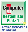 Computer Bild Paragon Partition Manager 11 Professional Testsieger
