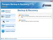 Paragon Backup & Recovery Home screen shot
