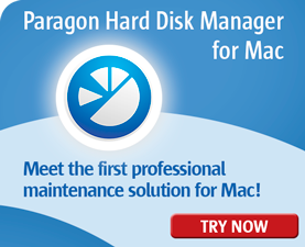 Paragon Hard Disk Manager for Mac - The first all-round solution to completely protect, maintain and manage your Mac!