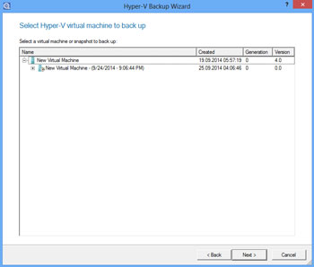 <b>Hyper-V-backup</b><br />The Hard Disk Manager 15 includes a new function for backing up MS Hyper-V guest systems without using an agent. For instance, if you are working on one or more Hyper-V guest systems on your Windows computer, you can use the Hard Disk Manager's backup tools to automatically back these systems up.