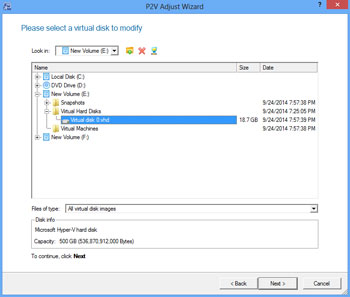 <b>P2V (Physical to Virtual) - Adjust Wizard</b><br />This wizard will help you adjust Windows OS inside your virtual disk to a new virtual machine