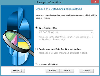 <b>Wipe Wizard</b><br />helps to irreversibly destroy all on-disk information or only remnants of deleted files/directories left on disk without affecting the used data. Updated disk wiping technology now gives you deletion functions for SSDs and erases SSD data safely without shortening the SSD's service life!