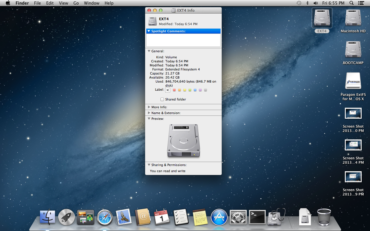 How to manage Ext2/Ext3 disks in OS X