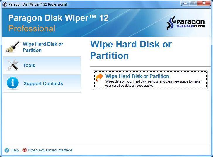 Paragon Disk Wiper 12 Compact - 彻底删除文件不被还原