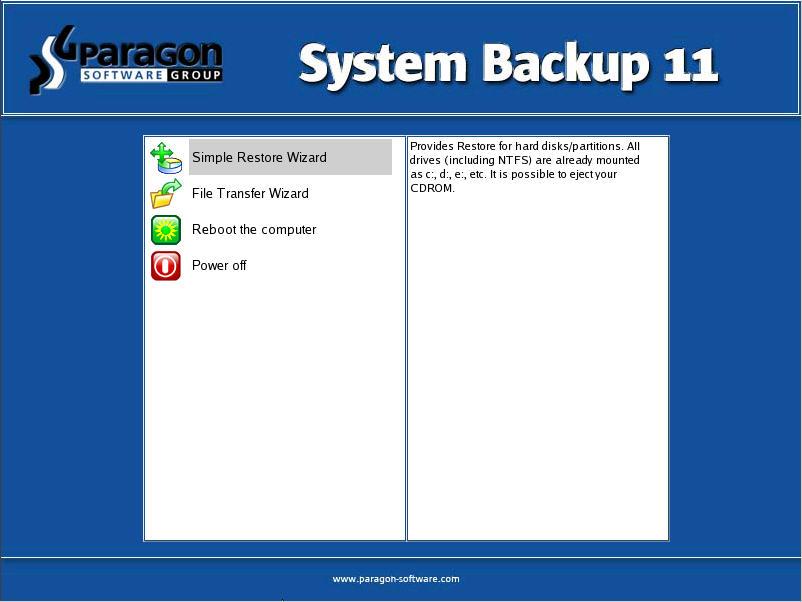 Windows 7 Paragon System Backup 11 full