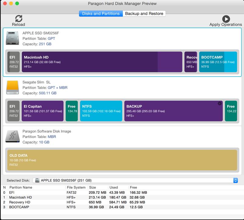 Paragon hard disk manager for mac beta produit en images for Mac fenetre hors ecran