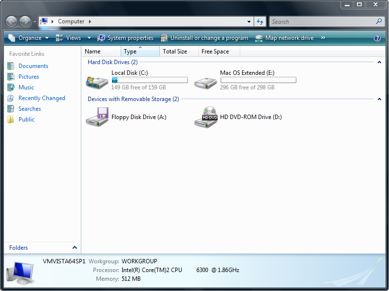 HFS+ for Windows Screenshot