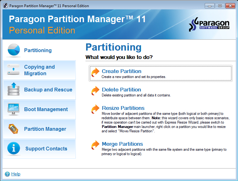Paragon Partition Manager 11 gratuit