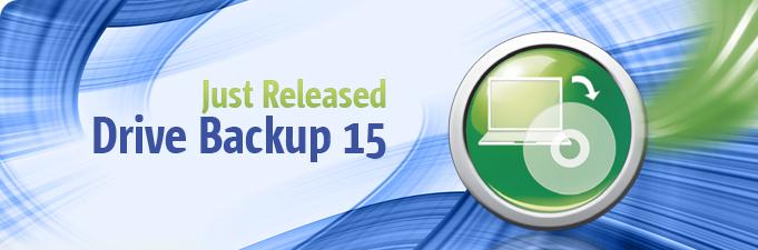 Drive Backup 15 シリーズリリース!