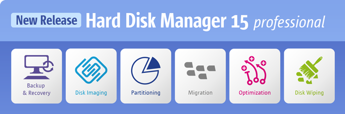 Hard Disk Manager 15 Professionalリリース!